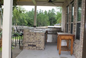 Conroe custom gourmet outdoor kitchen