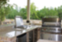 Conroe custom outdoor kitchen