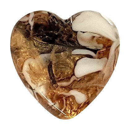 Unique Resin Heart - Ebony / Gold
