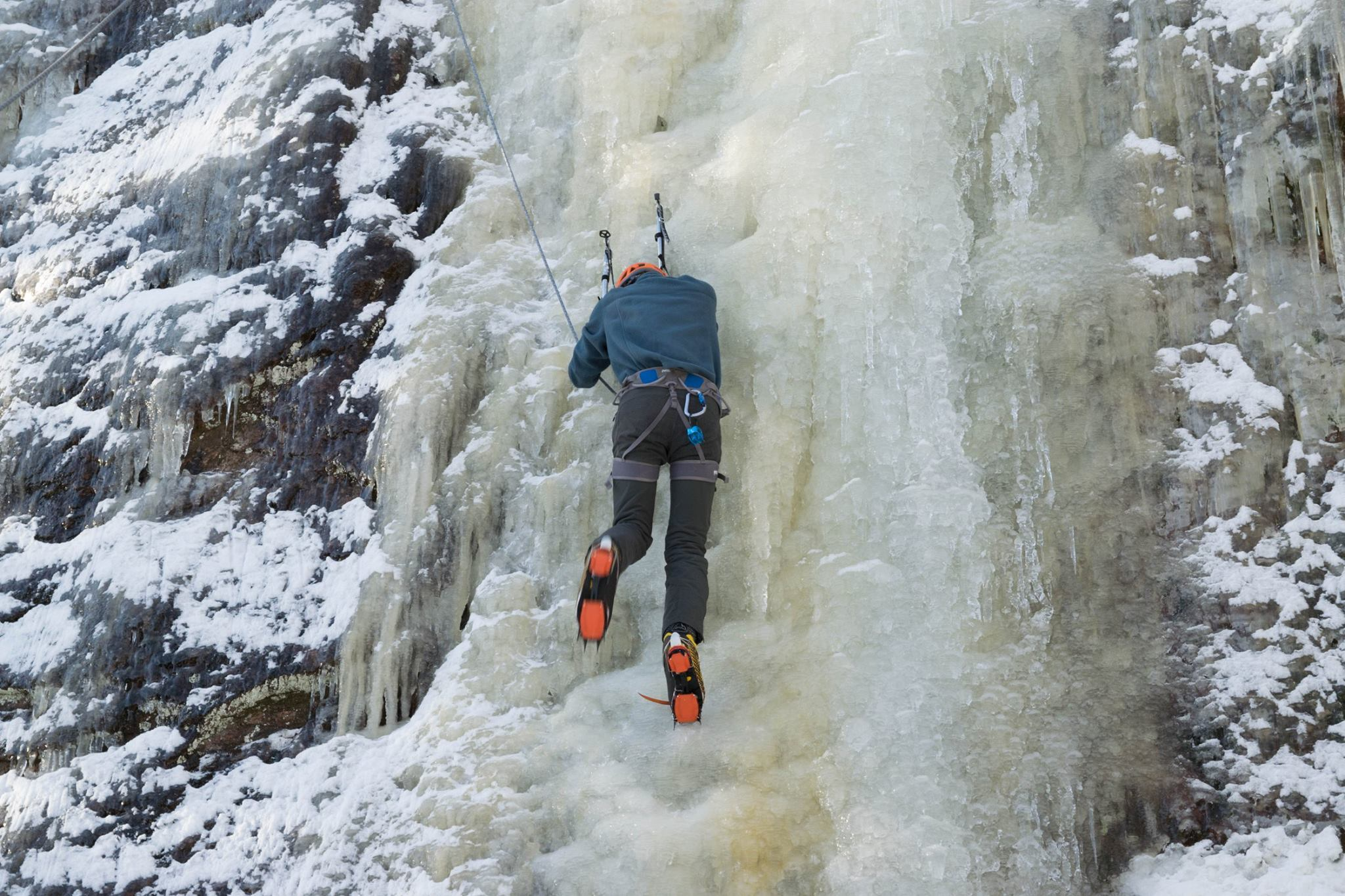Intro Ice Climbing Client