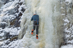 Intro Ice Climbing Client