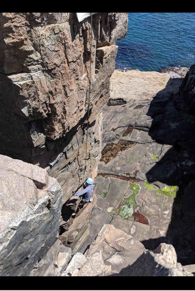 Otter Cliff Climb 4