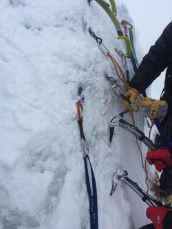 Rick teaching alpine anchors