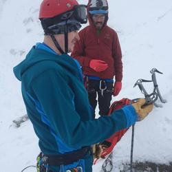 Rick Preparing an Alpine Belay