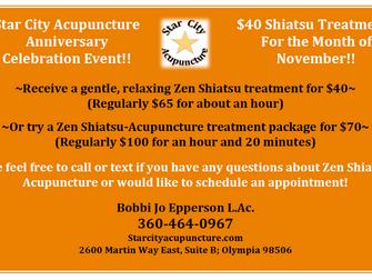 Star City Acupuncture Anniversary Celebration Event!!
