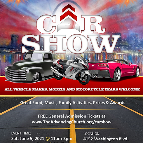 1st Annual Car Show - Presented by The Advancing Church