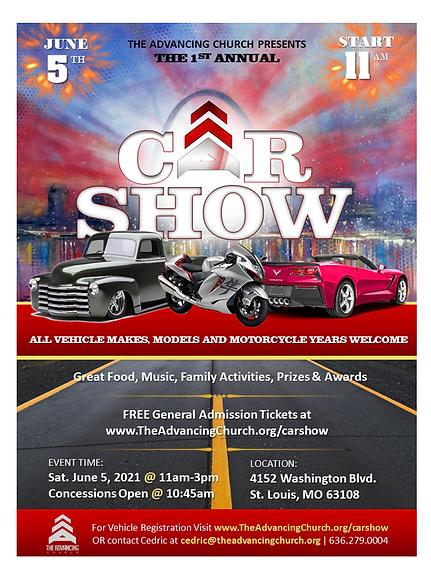 Car Show - The Advancing Church - White