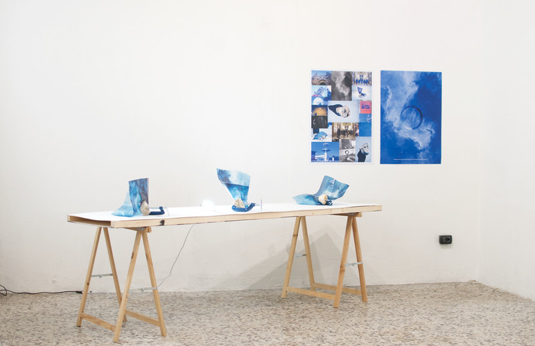 Out of blue- exibition view