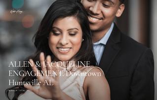Engagement photoshoot in Huntsville Alabama