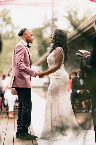 wedding ceremony in lake ida venue