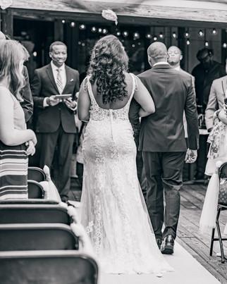 wedding ceremony in lake ida cafe in ethens, al
