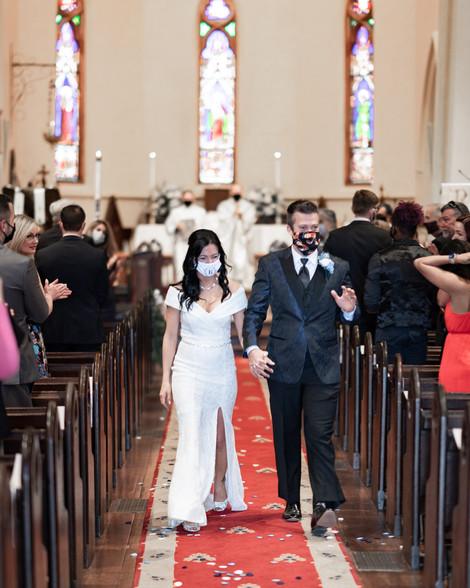 wedding photography in church of nativity in Huntsville Alabama