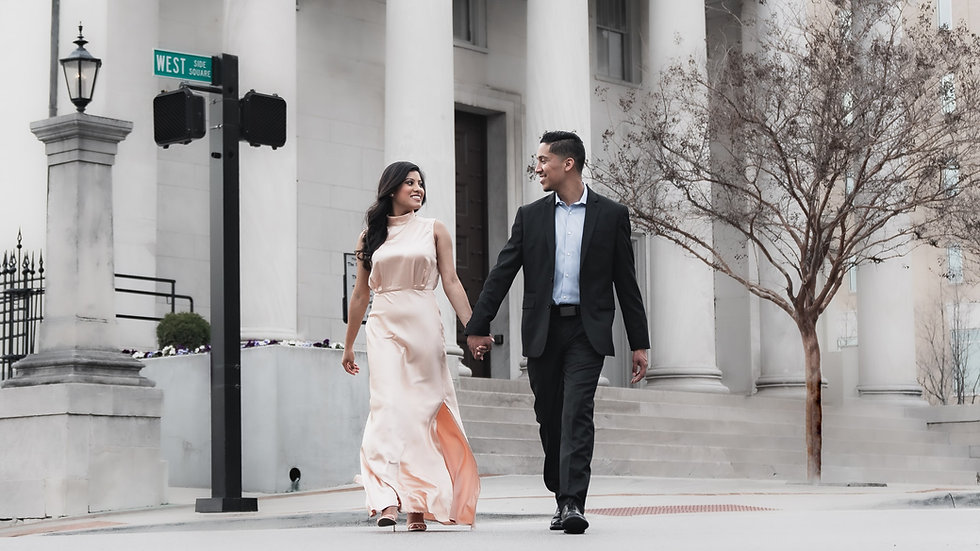 Engagement Photography in downtown Hunts