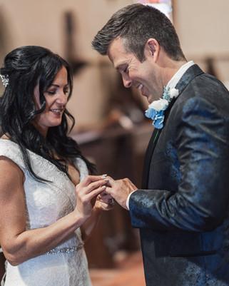 wedding ceremony in church of the nativi