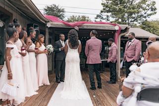 wedding reception in lake ida cafe in athens, al