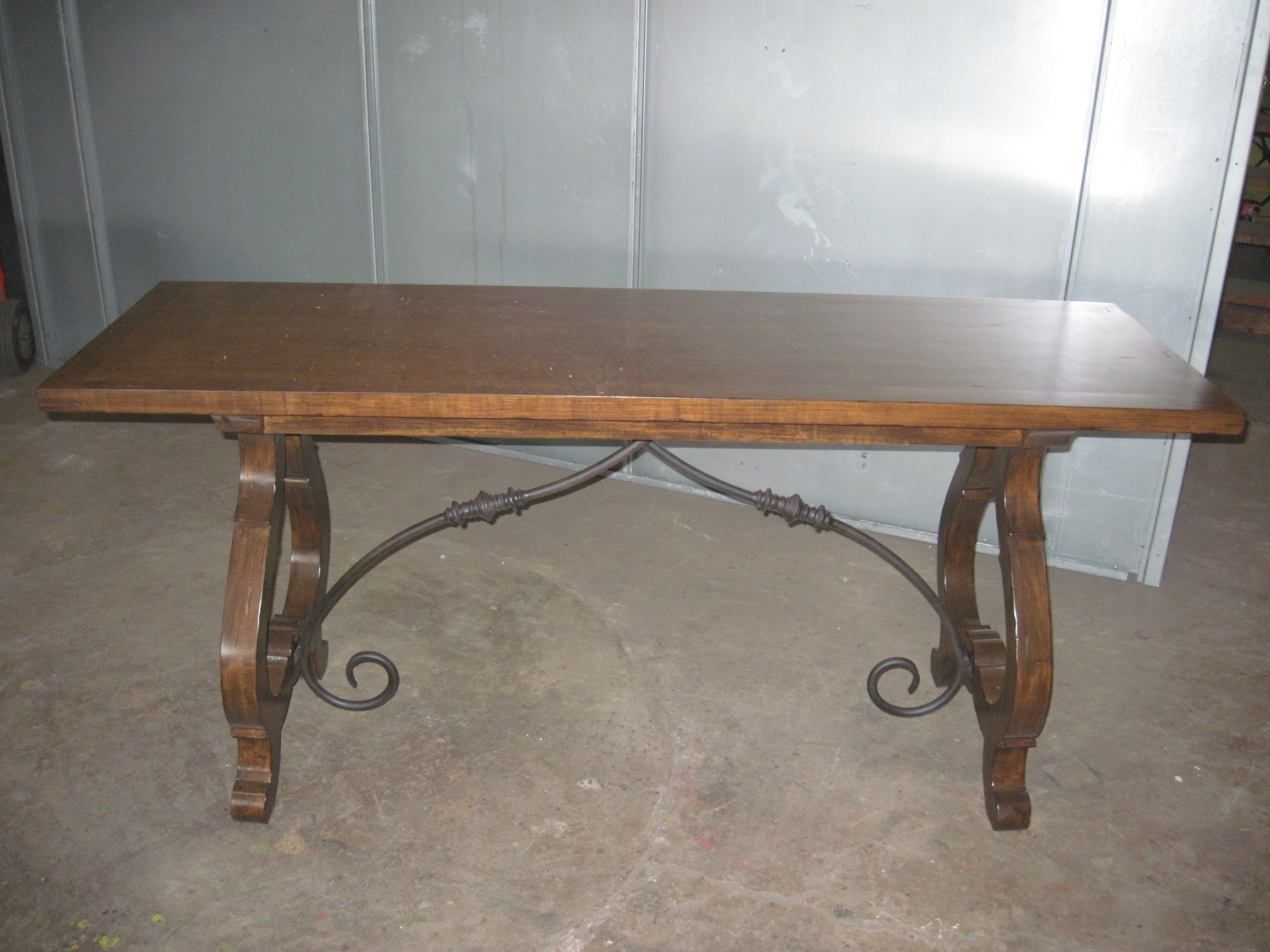 Table Base w/ Forged Iron Stretcher