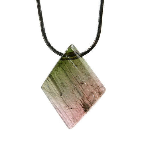 Gemstone free form pendants aromajewels polychrome is a term to define a tourmaline that has several colors merging in the stone such as we see here a mixture of red and green mozeypictures Gallery