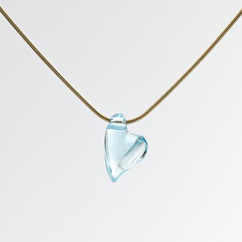 Blue Topaz Swingheart Pendant