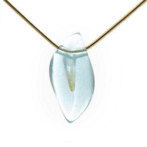 Aquamarine Flame Pendant