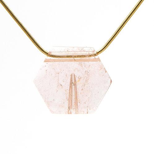 Morganite Hexagonal Pendant