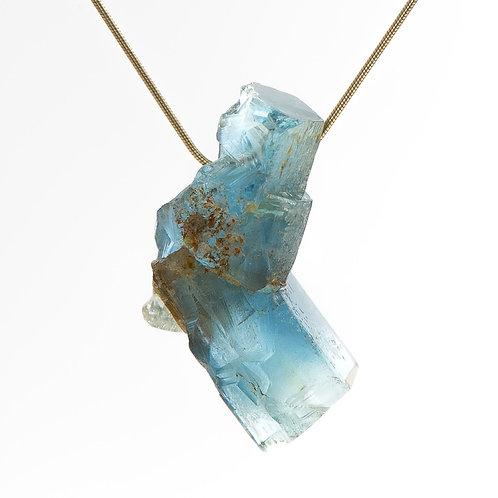 Aquamarine Free Form Pendant