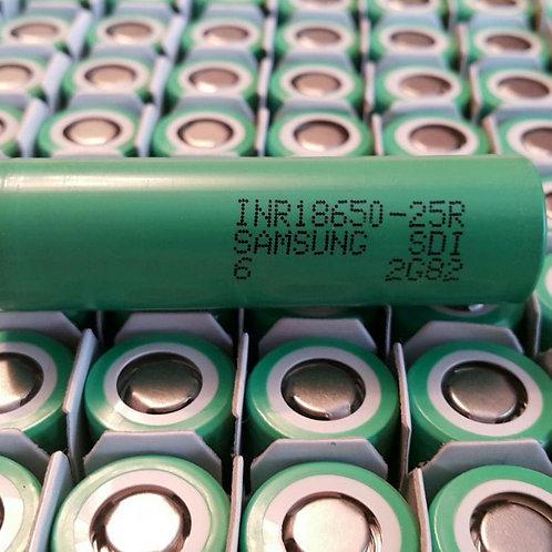 Аккумулятор Samsung 25R 18650, 2500 mAh, 20 A