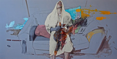 Stabat Mater,200x100 cm, mixed  media on