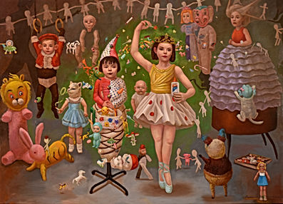 The Merry Makers 56 x 78 oil on linen 20