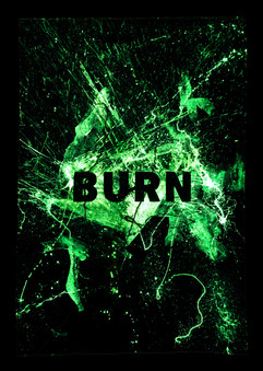 Burn (at night)