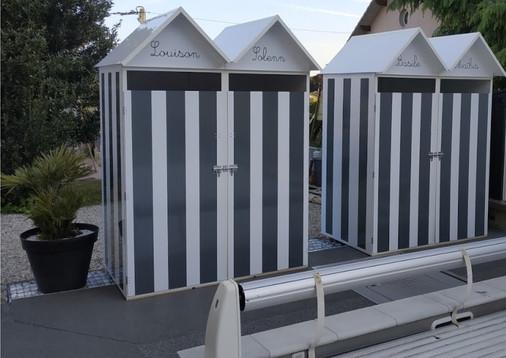 Cabines de plage double