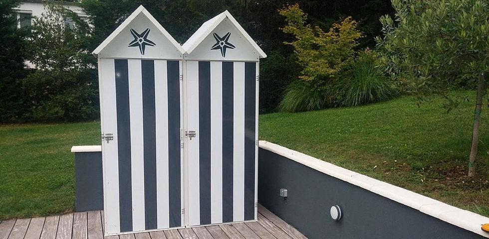 Cabines de plage mobicamp - Cabine de plage pour jardin ...