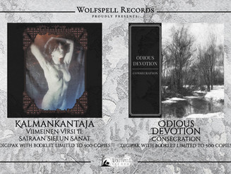 "KALMANKANTAJA  ""Viimeinen Virsi II"" & ODIOUS DEVOTION ""Consecration"""