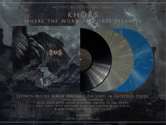 """KHORS """"Where the Word Acquires Eternity"""" LP"""