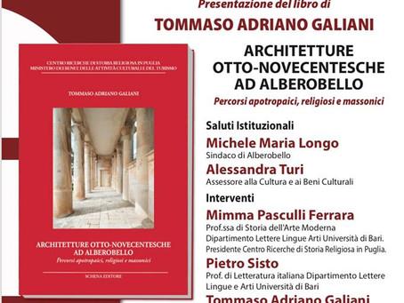 """ALBEROBELLO: Si presenta il libro """"Architetture otto-novecentesche ad Alberobello"""""""