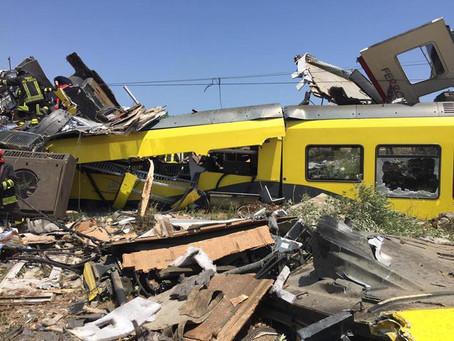 BARI- Incidente ferroviario: Mit responsabile civile. Lo ha deciso il Gup di Trani