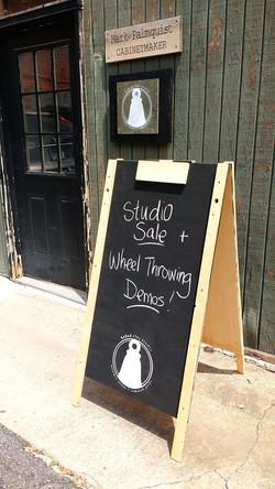 Sale + Demo Days Sign, BakedClayStudio,