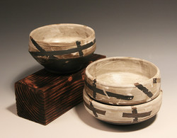 Baked Clay Studio_Cameron Petke _B+W masking bowls_stacking set