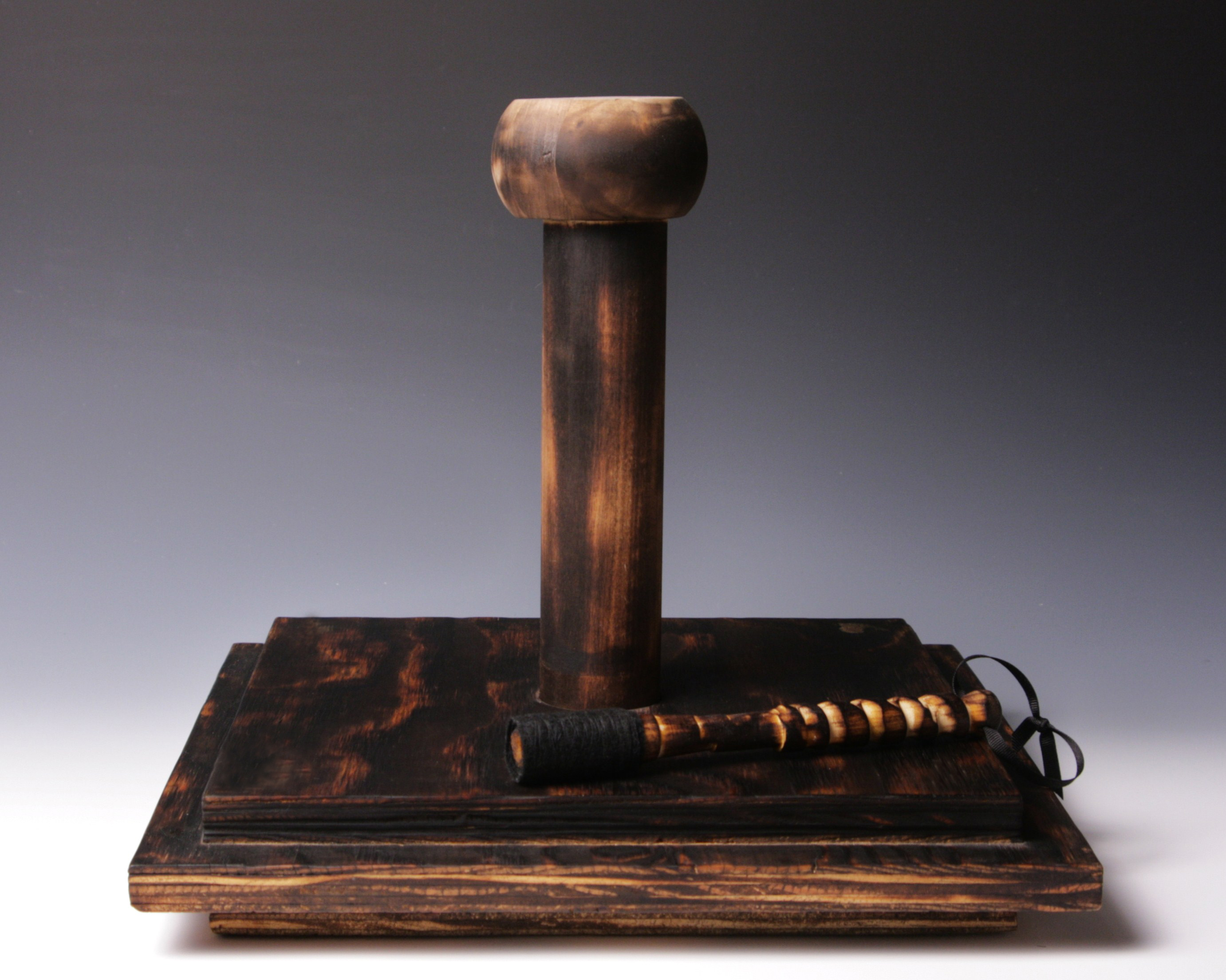 Charred Bell Stand + Mallet