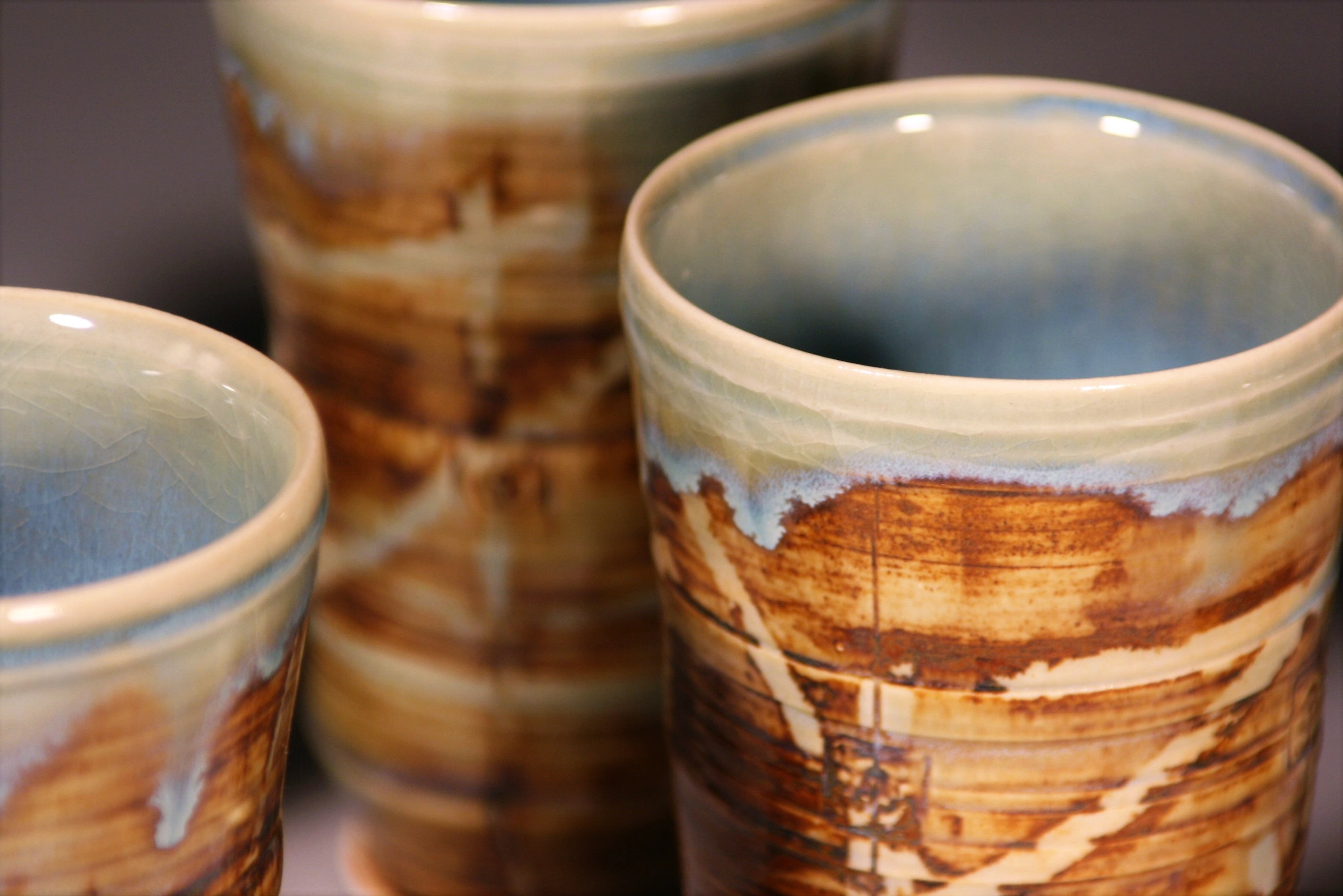 Baked Clay Studio_Cameron Petke _Porcelain tumblers_detail