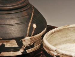 Baked Clay Studio_Cameron Petke _B+W stacking bowl set_detail