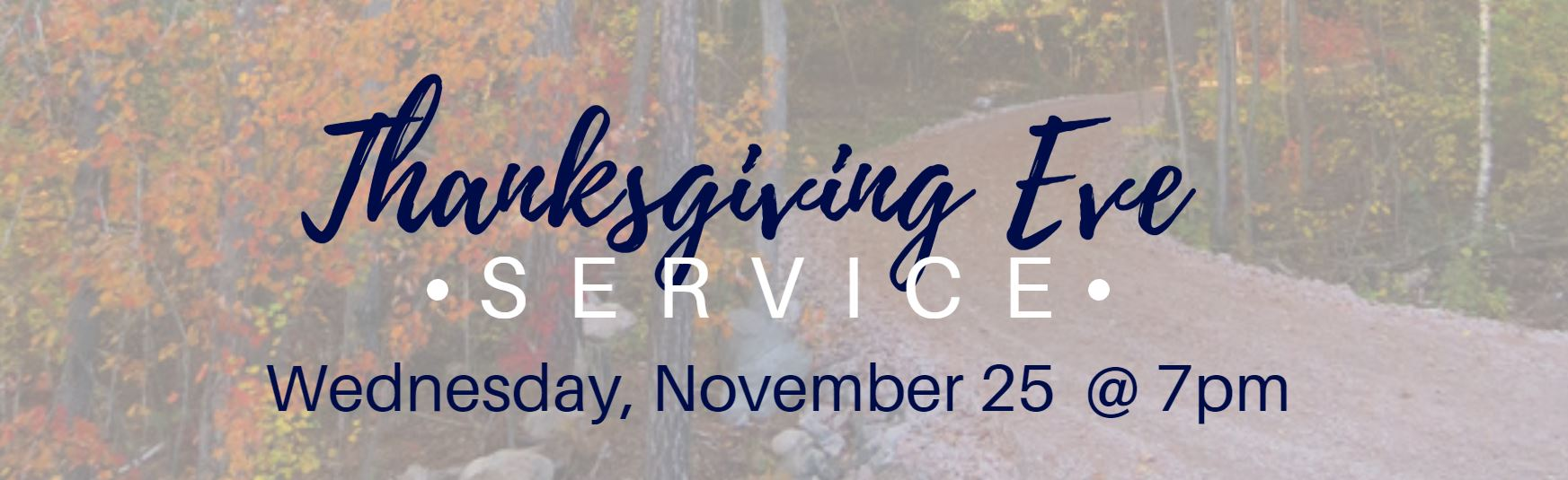 thanksgiving eve service 2020