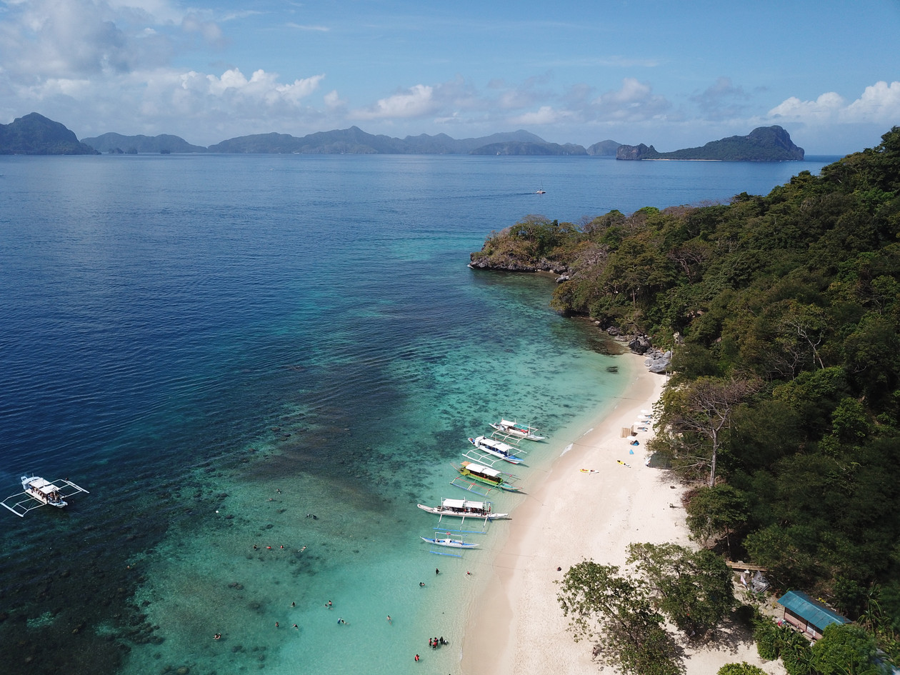 Drone View of the El Nido beaches