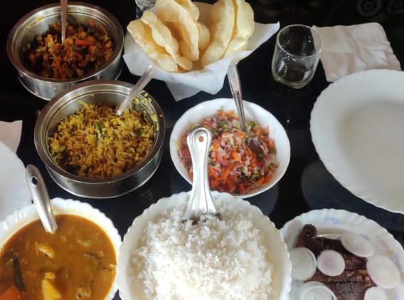 Food inside the Houseboat.JPG