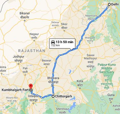 Delhi to Kumbhalgarh.png