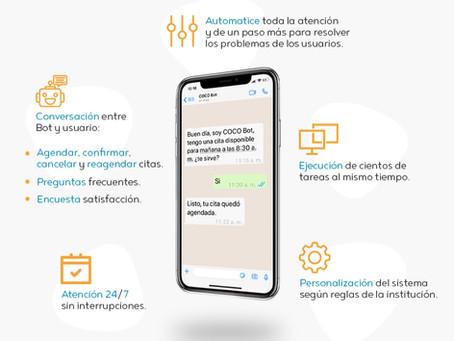 Ventajas de prestar un servicio automatizado con chatbots en el sector salud.