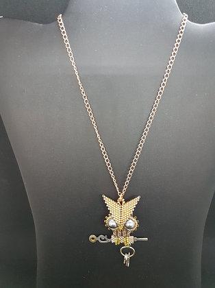 Metal Owl Necklace
