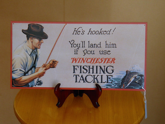 Winchester Fishing Tackle Sign