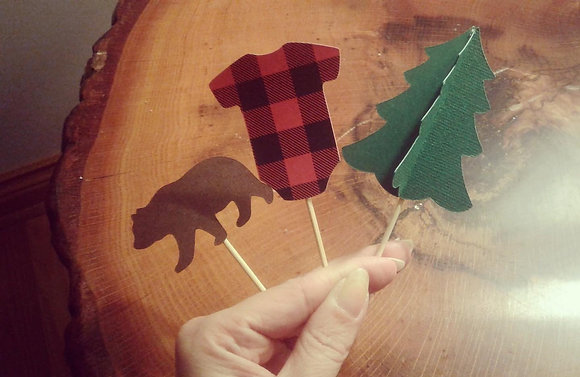 Woodland Baby Cupcake Toppers