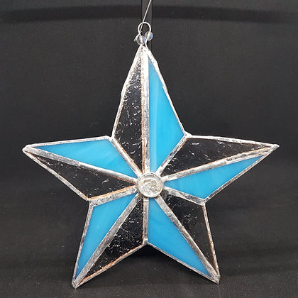 Stained Glass Star - Blue