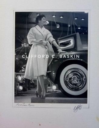 1950s Vintage Photo, Motor Show Model